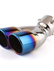 economico -1 pezzo 76 mm Punte di scarico di scarico unbent Acciaio inossidabile Silenziatori di scarico For Nissan X-Trail Tutti gli anni