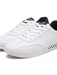 Недорогие -Муж. обувь Полиуретан Осень Светодиодные подошвы Спортивная обувь Беговая обувь Белый / Розовый и белый / Черно-белый