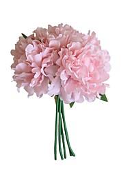 cheap -Artificial Flowers 5 Branch Wedding Flowers / Pastoral Style Peonies / Eternal Flower Tabletop Flower