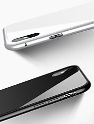 abordables -Coque Pour Apple iPhone X / iPhone 8 / iPhone 8 Plus Antichoc / Magnétique Coque Couleur Pleine Dur Verre Trempé / Aluminium pour iPhone X / iPhone 8 Plus / iPhone 8