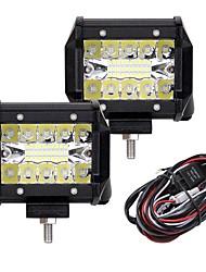 Недорогие -2pcs Автомобиль Лампы 60W Интегрированный LED 6000lm 20 Светодиодная лампа Внешние осветительные приборы For Универсальный 2018