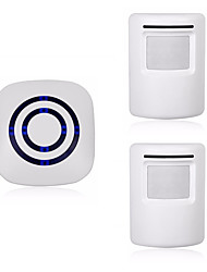 cheap -0256-1 Wireless One to Two Doorbell Hands-free Ding dong Music Sound adjustable Surface Mounted Doorbell