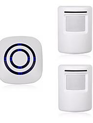 abordables -sans fil une à deux sonnettes mains libres / musique / ding dong son sonnette réglable en surface