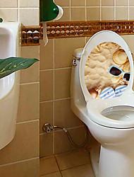 abordables -Autocollants muraux décoratifs Autocollants toilettes - Autocollants avion Paysage 3D Salle de séjour Chambre à coucher Salle de bain