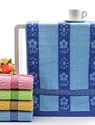 Недорогие -Свежий стиль Полотенца для мытья, Цветочный принт Высшее качество Полиэстер / хлопок Чистый хлопок Полотняное плетение 1pcs