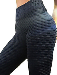 cheap -Women's Basic Legging - Solid Colored Mid Waist / Spring / Summer / Sporty Look