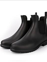 Недорогие -Жен. Обувь КожаПВХ Весна лето Армейские ботинки Ботинки На плоской подошве Круглый носок Черный / Коричневый