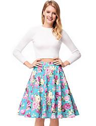 baratos -mulheres acima do joelho uma linha saias - floral
