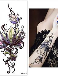 Недорогие -Наклейки и ленты / Стикер / Стикер татуировки запястье Временные татуировки 3 pcs Тату с цветами Искусство тела