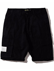 abordables -Hombre Deportivo Shorts Pantalones - Un Color camuflaje