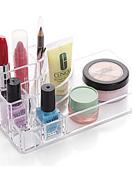 cheap -Plastic Rectangle New Design Home Organization, 1pc Holders / Makeups Storage / Desktop Organizers