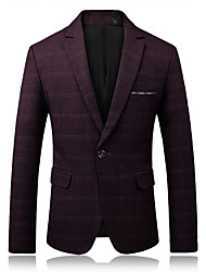 cheap -Men's Party Daily Business Casual Slim Blazer-Houndstooth Peaked Lapel / Please choose one size larger according to your normal size.