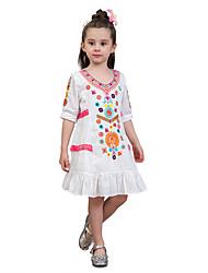 cheap -Kids Toddler Girls' Striped Print Color Block Half Sleeves Dress