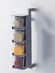 economico -Organizzazione della cucina Shaker e macinini Plastica disegno geometrico / corpo trasparente 1pc