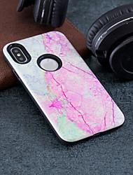 Недорогие -Кейс для Назначение Apple iPhone X / iPhone 8 Pluss / iPhone 8 Защита от удара / Рельефный / С узором Кейс на заднюю панель Мрамор Твердый ПК