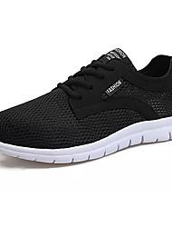 economico -Per uomo Scarpe Maglia traspirante Estate Comoda scarpe da ginnastica Footing per Sportivo Nero Grigio