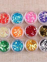 baratos -12pcs Dicas de unhas artificiais Ferramenta de Nail Art Nail Art Kit Design Moderno arte de unha Manicure e pedicure Alta qualidade Roupa Diária / Jóias de unha