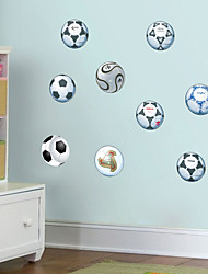 cheap -Decorative Wall Stickers - Plane Wall Stickers Football Living Room Bedroom Bathroom Kitchen Dining Room Study Room / Office