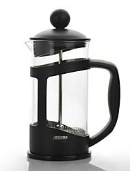 baratos -Cafeteira para Acampamento Bule de Café Leve vidro / Aço Inoxidável / PP Ao ar livre para Equitação / Campismo / Viagem Preto