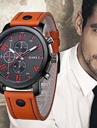 baratos -Homens Relógio de Pulso Chinês Legal Couro Banda Casual / Fashion Preta / Azul / Laranja