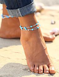 baratos -Turquesa Tornezeleira - Vintage, Boêmio, Tropical Dourado / Prata Para Presente / Bikini