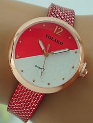 Недорогие -Жен. Наручные часы Кварцевый Черный / Белый / Красный Повседневные часы Аналоговый Дамы Мода - Красный Розовый Светло-синий