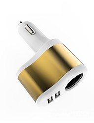 cheap -Car Charger USB Charger USB Multi-Output / QC 3.0 2 USB Ports 2.1 A DC 12V-24V