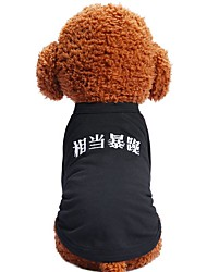 cheap -Dogs Cats Pets Shirt / T-Shirt Dog Clothes Hippo Classic Quotes & Sayings Black Cotton / Polyester Costume For Pets Female Fashion Trendy