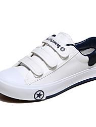 baratos -Mulheres Sapatos Tecido Verão Conforto Tênis Sem Salto Dedo Fechado para Casual / Ao ar livre Branco / Preto / Vermelho