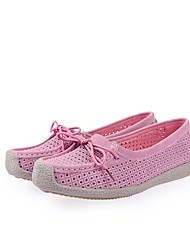 Недорогие -Жен. Обувь Кожа Весна лето Мокасины / Удобная обувь На плокой подошве На плоской подошве для Красный / Синий / Розовый
