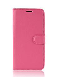 Недорогие -Кейс для Назначение Motorola MOTO G6 / Moto G6 Play Кошелек / Бумажник для карт / Флип Чехол Однотонный Твердый Кожа PU для Moto Z2 play / Moto X4 / MOTO G6 / Мото G5 Plus