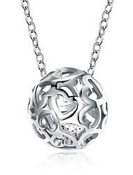 Недорогие -Шарообразные Ожерелья с подвесками Любовь Уникальный дизайн европейский Мода Серебряный 46 cm Ожерелье Бижутерия Назначение Подарок Карнавал