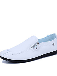abordables -Homme Chaussures Polyuréthane Automne Moccasin Mocassins et Chaussons+D6148 Blanc / Noir / Marron