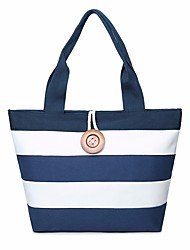 cheap -Women's Bags Canvas Tote Buttons for Shopping Blue / Black