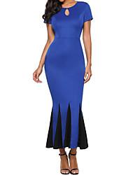 preiswerte -Damen Grundlegend Hülle Kleid Einfarbig Maxi