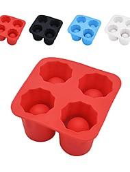 abordables -Tasse de forme de barre de tasse de forme de barre de cube en moule de glace de silicone de 4 coups de cavité tasse