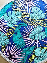 Недорогие -Высшее качество Пляжное полотенце, Цветочные / ботанический Полиэстер / Хлопок 1 pcs