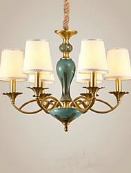 economico -QINGMING® 6-Light Candela-style Lampadari Lampada da terra - Stile Mini, 110-120V / 220-240V Lampadine non incluse / 10-15㎡ / E12 / E14