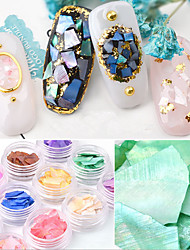 cheap -12 pcs Trim & Embellishments Nature Inspired / Vintage Inspired Nail Art Design Ultra Slim Daily Wear