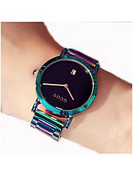baratos -Mulheres Relógio Elegante Chinês Cronógrafo Aço Inoxidável Banda Casual Verde