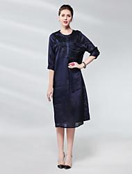 cheap -Proverb women's linen sheath dress - solid colored / floral midi