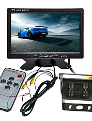 cheap -ZIQIAO 7inch TFT-LCD CCD Wired 120 Degree Car Rear View Kit Waterproof / Multi-functional display / LCD Screen for Truck / Bus / Car