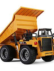 cheap -RC Car 1540 6CH 2.4G Construction Truck 1:18 Brush Electric 30 km/h KM/H
