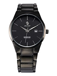 cheap -Men's Dress Watch / Wrist Watch Chinese Calendar / date / day Alloy Band Casual / Fashion Black / Two Years