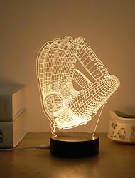 お買い得  -1セット 3Dナイトライト 温白色 USB クリエイティブ / ストレスや不安の救済 / デコレーション 5V