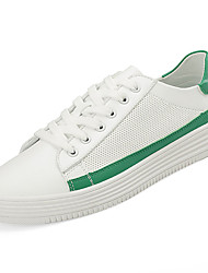 cheap -Men's PU(Polyurethane) Spring / Fall Comfort Sneakers Color Block Red / White / Green