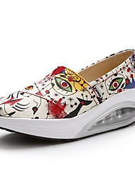 abordables -Femme Chaussures Toile Printemps été Chausson de Berceau Mocassins et Chaussons+D6148 Hauteur de semelle compensée Bout ouvert Violet /