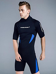 cheap -Men's Shorty Wetsuit 3mm CR Neoprene Diving Suit Anatomic Design, UV Resistant Half Sleeve Back Zip Graphic Summer