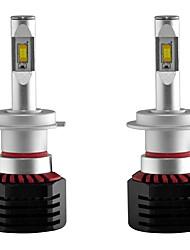 Недорогие -2pcs H7 Автомобиль Лампы 80W Интегрированный LED 8000lm 2 Светодиодная лампа Налобный фонарь For Универсальный Все модели Все года