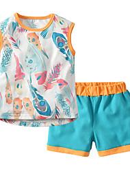 cheap -Baby Unisex Color Block / Patchwork Short Sleeve Clothing Set